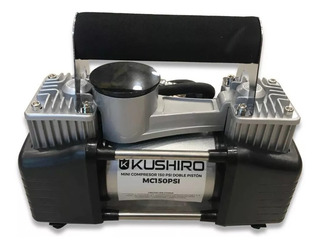 Mini Compresor Inflador Kushiro 150 Psi Doble Piston 12v