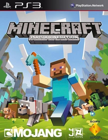 Minecraft Ps3 Original Mídia Digital Envio Imediato Psn!