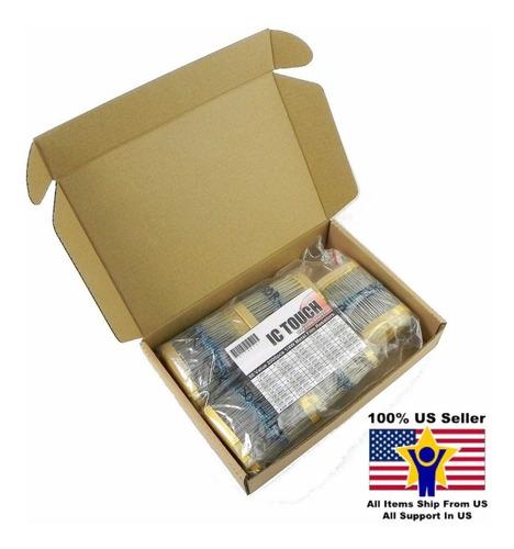 2000pcs 50value 1/4w Resistor De Película Surtido Kit U.s. V