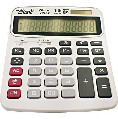 Calculadora Modelo 1202 Spiral Digit Fonte Bateria E Solar