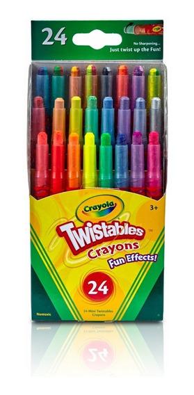Crayones 24 Un Girables Efectos Divertidos