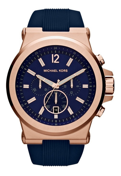 Relógio Michael Kors Mk8295 Orig Chron Anal Gold Rose