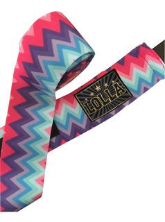 Bandagem Elástica 5m Muay Thai - Lolla (estampa) Kit 3 Peças