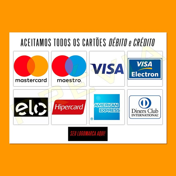 4x Adesivos A4 Cartão Débito Crédito Personalizado Com Logo