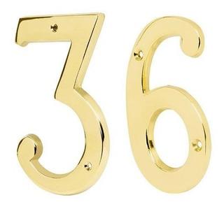 Numero Laton Solido 4 Numero 3 Hermex 43681