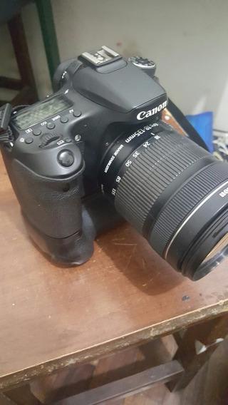 Camera Completa Canon 70d (lente+4baterias+flash+grip+acess)