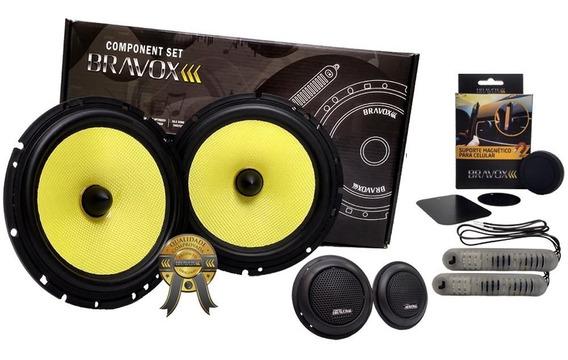 Kit 2 Vias Bravox 6 Cs60k 160w Rms Bravox + Brinde