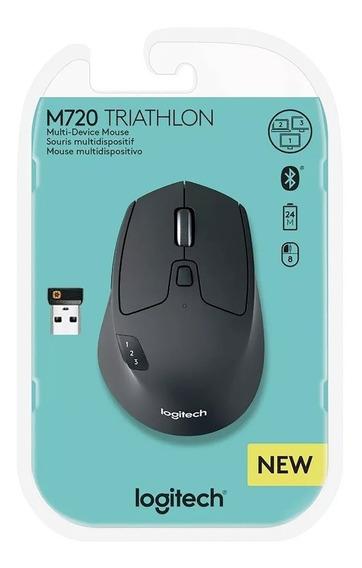 Mouse Sem Fio Multidispositivos Triathlon M720 Logitech
