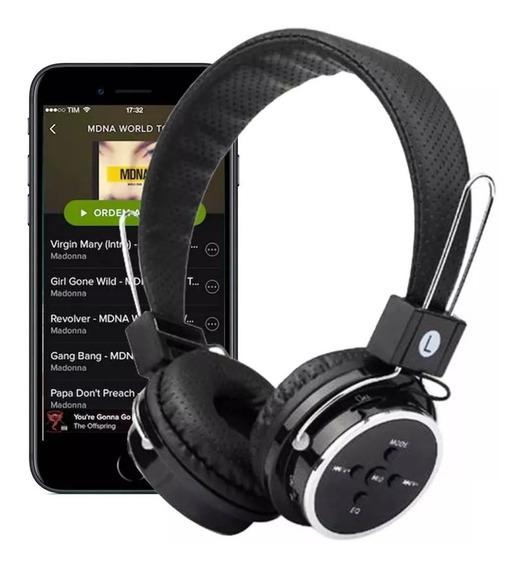 Fone Head Phone Ouvido Bluetooth P2 Cartão Sd Md