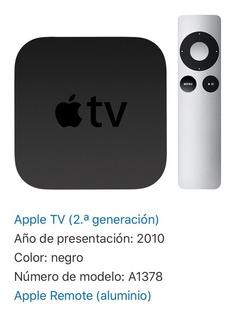 Apple Tv Modelo A1378 2da Generación + Control + Cable Hdmi