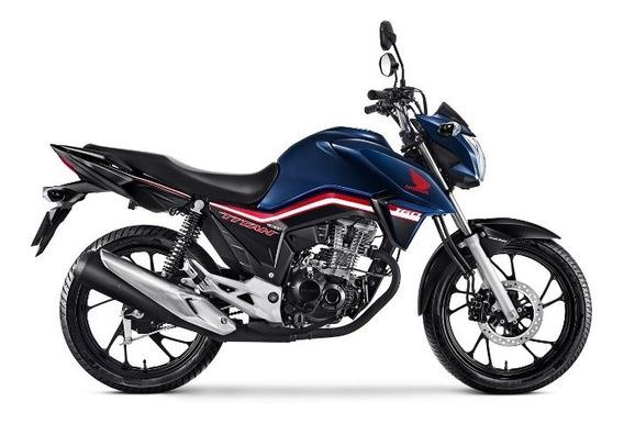 Honda Cg 160 Titan - Azul Escuro 0km Sem Entrada - Pinda-sp