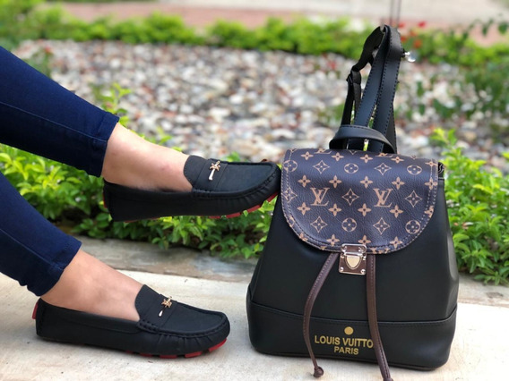 Mocasines De Damas Elegantes + Bolso + Moda + Envío Gratis