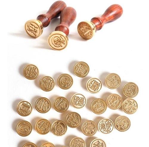 Sinete ( T ) P/ Lacres De Cera Selo Carta Medieval Elegância