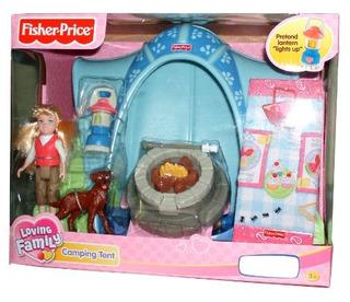 Fisher Price Loving Family Tienda De Campaña Playset Con 4 P