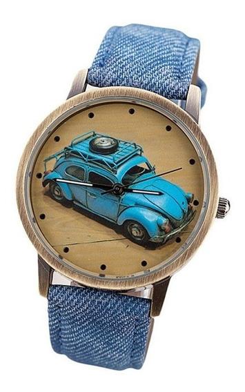 Relógio - Fusca Azul - Pulseira Azul