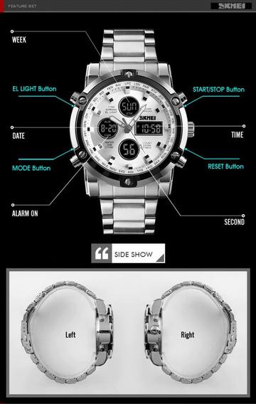Reloj De Pulsera Skmei Tipo Militar Analogo Y Digital