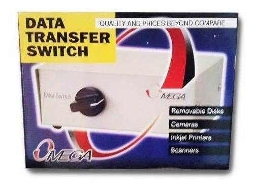 Data Transfer Switch Para Impresoras 2 Canales Serial Db-25