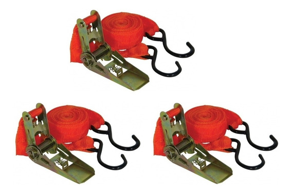 Kit 3 Catracas +cintas/fita P/ Prender E Transportar Cargas