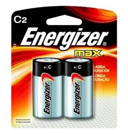 Pilha Energizer Tamanho C2 Média - Cartela Com 2 Unid