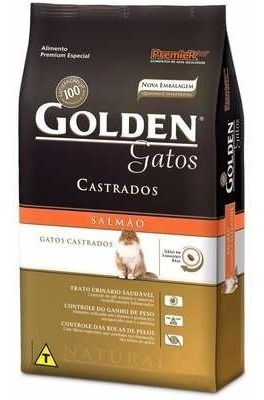 Ração Golden Gatos Ad Castrados Salmão 10,1 Kg