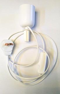 Portalampara Para Arma Velador De Botella Con Interruptor Color Blanco Completo