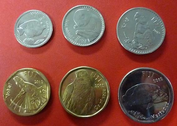 Islas Fiji Set De 6 Monedas Animales Nativos 2012 Unc