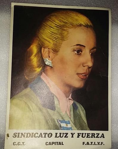 Peronismo Mini Poster Eva Peron Evita Sindicat Luz Y Fuerza