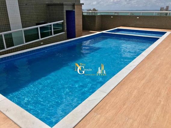 Apartamento De 1 Dormitório C/ Suite, Lazer Na Cobertura E Proximo A Praia! Pronto Pra Morar! - Vila Mirim - Praia Grande/sp - Ap2095