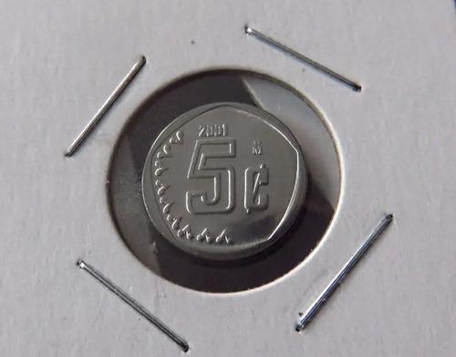Imagen 1 de 2 de Moneda 5 Centavos 2001 Bu Nueva  Las Mas Cotizadas