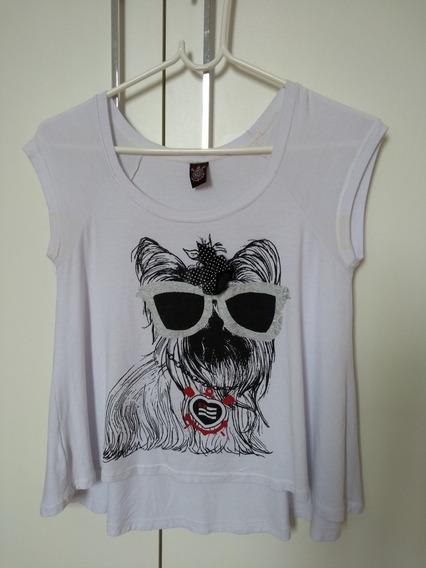 Camiseta Feminina Infantil Tam 14 Cachorro Corinthians