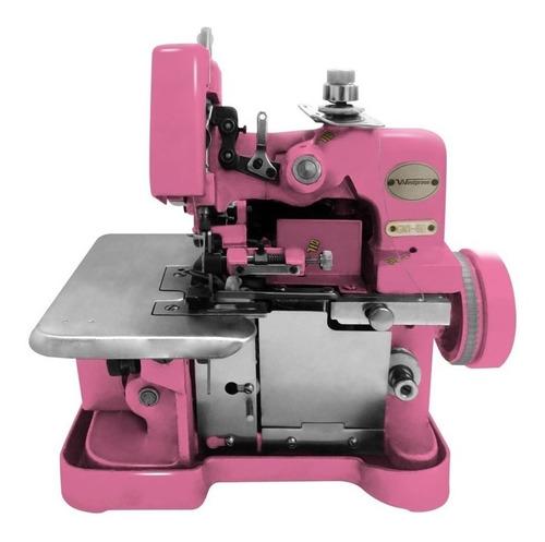 Máquina de costura semi industrial Westpress GN1-6D portátil rosa 220V