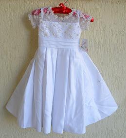 Vestido Infantil Noivinha Daminha Festa 3 Anos - Ref9