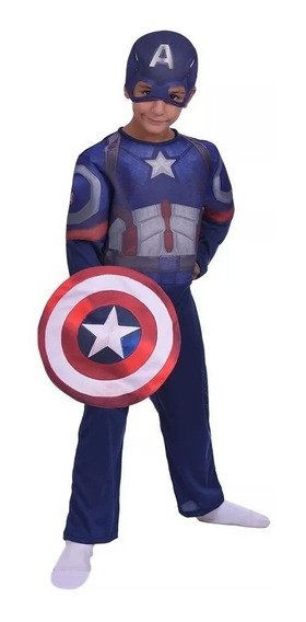 Disfraz Capitan America Original New Toy