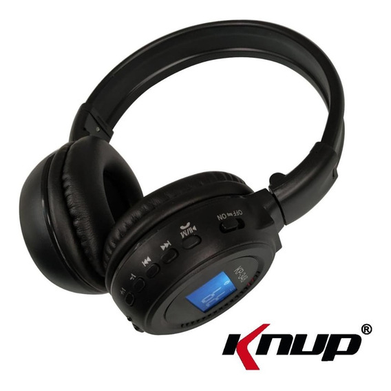 Fone Ouvido Headset Knup Kp-348 Bluetooth Sem Fio Wireless