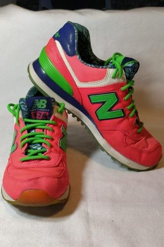 Zapatillas New Balance 574 Mujer  T. 37- 24 Cm