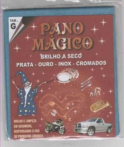 Flanela Pano Magico G Limpa Ouro Prata Metal - 23x27cm