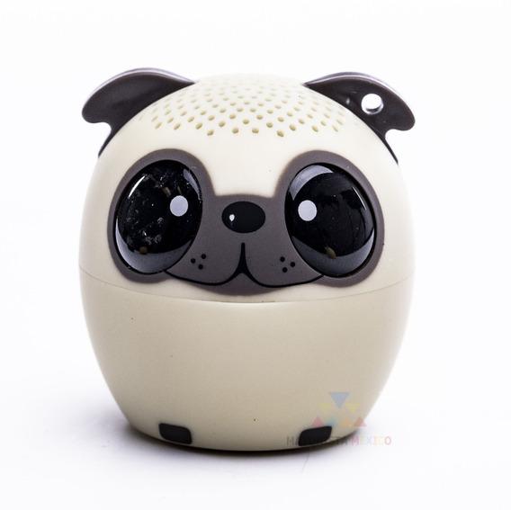 Mini Bocina Perro Pug Portatil Bluetooth Llaves Bici M07 Knk