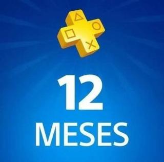 Psn Plus De 12 Meses (1 Año De Plus Ps4 Garantizado)