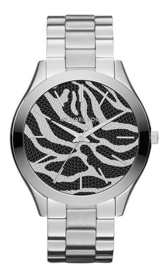 Lindo Relógio Michael Kors Slim Mk3314 ( Com Swarovisk )