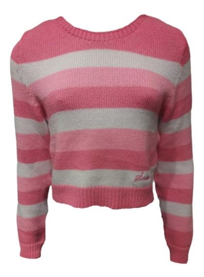Sweater Scombro Modelo Corto C/ Rayas. Esp Estamp. Cod 126
