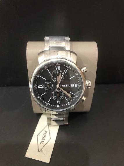 Relógio Fossil Masculino Em Aço Inoxidável - Original