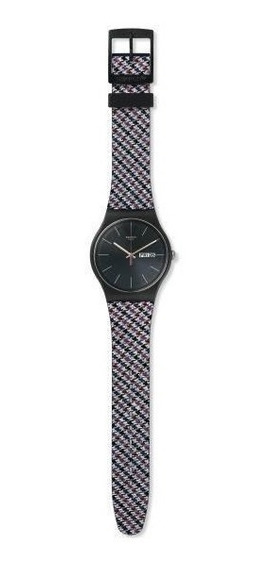 Relógio Swatch Warmth Suob725 Silicone Preto Original