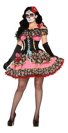 Vestido Mujer Catrina Vestido Día Muertos M/l