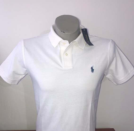 Camiseta Tipo Polo 100% Original Color Blanco