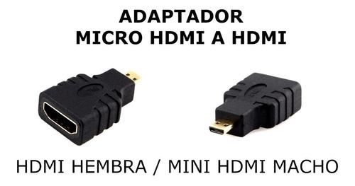 Imagen 1 de 1 de Adaptador Coneversor Micro Hdmi Macho A Hdmi Clasico Hembra