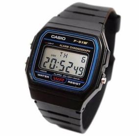 Lote 5 Relojes Casio F91w Negro Precio Mayoreo Original