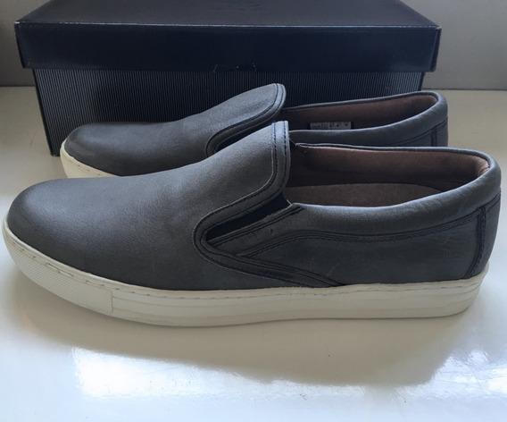 Zapatos Alpargastas Cuero Gris De Febo Hombre, Nuevos!