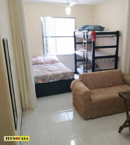 Ótimo Apartamento Com 01 Dormitório Para Venda Com  31 M² No Bairro  Vila Guilhermina Em  Praia Grande/sp. - Ap6660