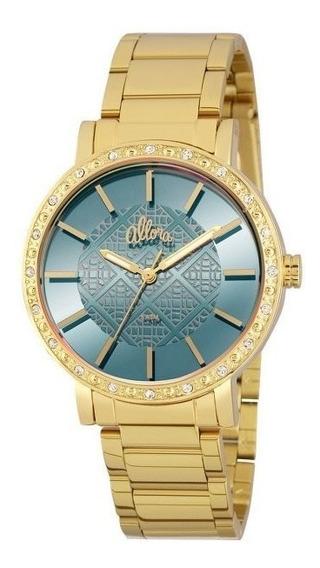 Relógio Allora Feminino Analógico Dourado - Al2035fhl/4a