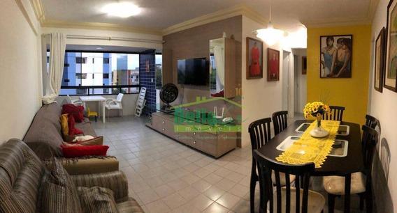 Excelente Apartamento Com 2 Dormitórios À Venda, 78 M² Por R$ 275.000 - Candeias - Jaboatão Dos Guararapes/pe - Ap10248